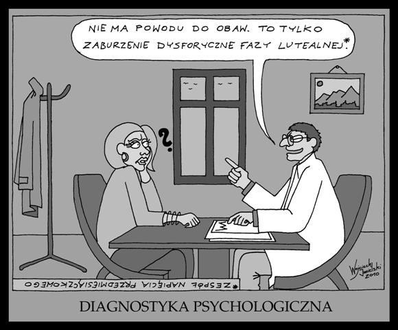 Psycholog dodaje otuchy pacjentce